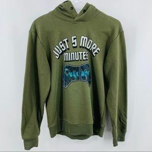 H & M Gamer Green Sweatshirt Hoodie